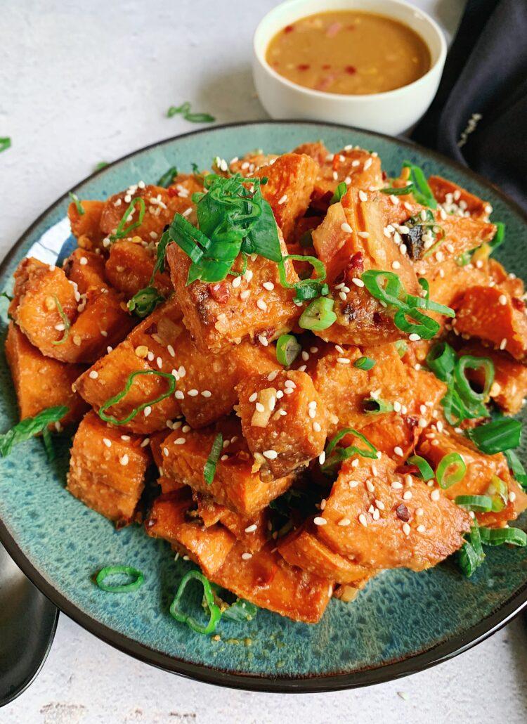 Miso Butter Sweet Potatoes